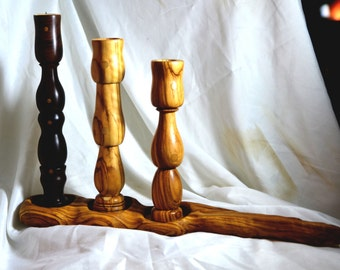 Olive and Rosewood Candle sticks