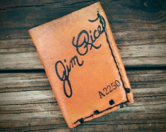 Baseball glove wallet recycled leather wallet handmade leather wallet