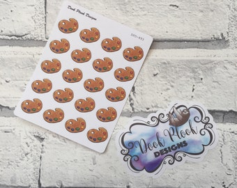Paint palettte stickers for Erin Condren, Plum Paper, Filofax, Kikki K (DPD493)