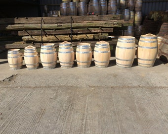 Brand New Acacia/Chestnut Barrel, ideal for home brewing or use as a garden feature. (Size Options)