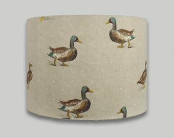 Mallard Duck Country Drum Lampshade Lightshade 20cm 25cm 30cm 35cm 40cm sizes available