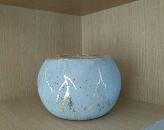 Concrete Sphere Bowl