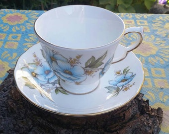 Cup and saucer Queen Anne