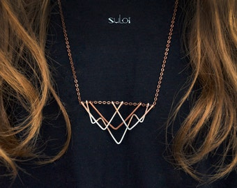 Copper necklace Mountains