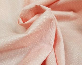 100% Cotton Light Pink Polk A Dot print (Remnant Pieces)