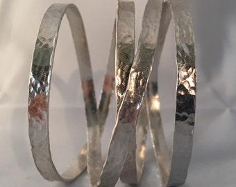 Eternity sterling silver cuff no66
