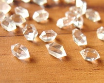 Natural Herkimer Diamond Quartz Crystal 5mm to 10mm Water Clear Undrilled- 10 Pcs Random Selection