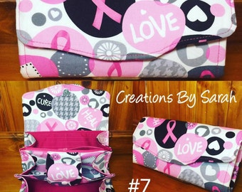 Breast Cancer Awareness NCW Neccesary Clutch Wallet