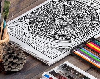 SAND DOLLAR: A Printable Adult Coloring Page