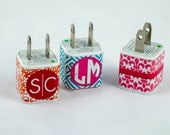 Monogrammed Personalized Custom USB Phone Charger A/C Adaptor