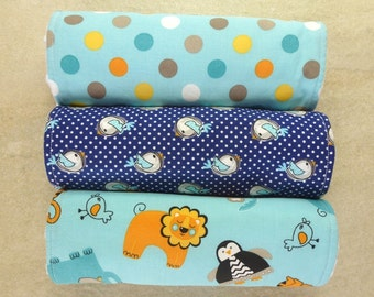 Baby Burp Cloths Set of 3, Baby Boy Gift, Baby Shower Gift, New Mums