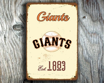 SAN FRANCISCO GIANTS  Sign, Vintage style Giants Sign, Giants Baseball, Giants Baseball Sign, Vintage Giants, Baseball Gift, Baseball Decor