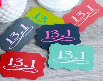 13.1 magnet, Half Marathon magnet, Refrigerator Magnet, Running Magnet, Run Infinity, Runner Magnet, Marathon Magnet