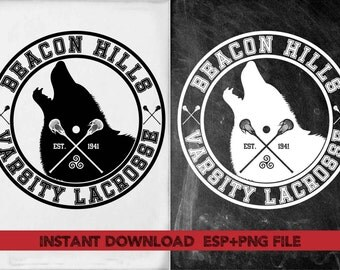 Bacon Hill Varsith Lacrosse  clipart ,T shirt, iron on , sticker, Vectors files