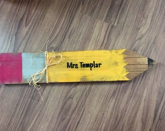 Personalized Pencil Wood Sign