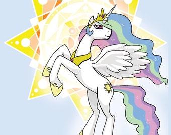 Solar Princess - MLP Celestia Print