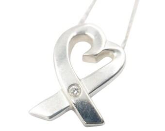 TIFFANY Diamond Paloma Picasso Loving Heart Necklace 8G1784
