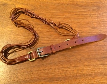 Brown Leather Straps Belt