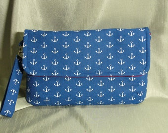 PRICE REDUCED: Clutch, Diaper Clutch, Diaper Bag, Wristlet, Shoulder Bag, Anchors