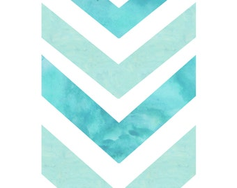 Chevron geometric wall art download