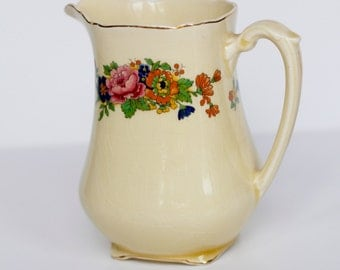Cream floral jug