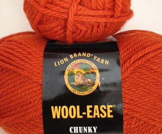 Lion Brand Wool Ease Chunky Yarn, Color-Pumpkin #133