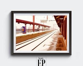Newark Broad St Station - Photograph - Framed (12 x 18)