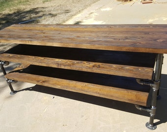 Industrial Pipe Entertainment Stand, Ancon Edition