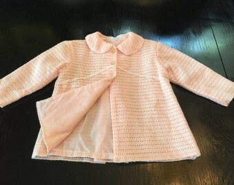 Baby's lightweight coat with bonnet