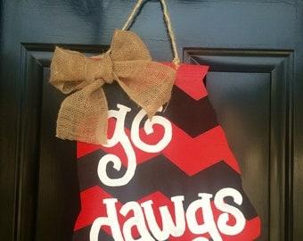 Cute Georgia Door Hanger