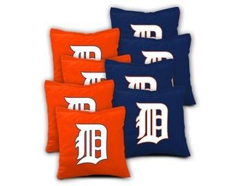 DETROIT TIGERS Set of 8 ACA Regulation Cornhole Bags Bean Bag Toss
