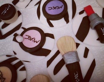 MAC & Zebra Makeup Cupcake Toppers