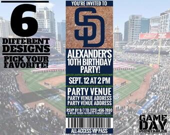 San Diego Padres Invitation – Printable