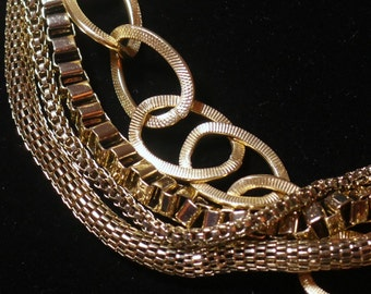 Gold Multi-Strand Chain Necklace 033