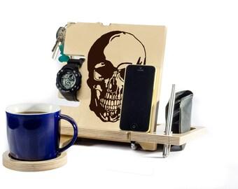 Skull Decor Skull Home Decor Skull Decal Skull Office Bedroom Decor Sculpture Skull Wallet Watch Holder