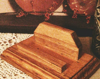 Cool rustic buisness card holder
