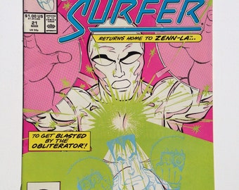 """Silver Surfer # 21 March 1989, Second Series, """"You Say You Want...  Obliteration!"""""""