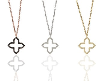 Sharp Clover Necklace 925 / Sterling Silver