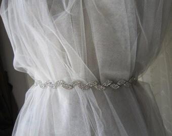 Bridal rhinestones Belt sash, wedding dress belt sash, accessories