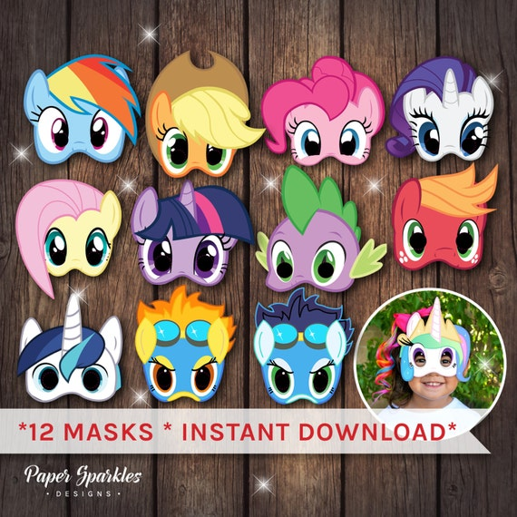 My Little Pony Masks Party By PaperSparkleDesigns