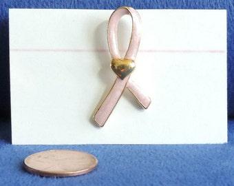 FREE SHIPPING!  Pink Ribbon Pin