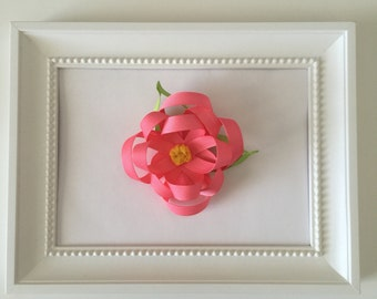 Pink Ribbon Flower Bow