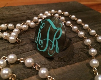 Monogram Shell Ring