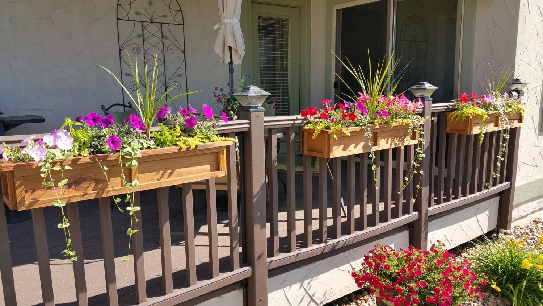 Deck rail planter boxes trend - Deck rail planters lowes ...