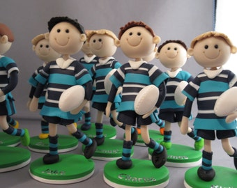 rugby tackle wedding cake topper rugby cake topper etsy 19466