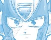 Zero Blue Pencil Face Sketch