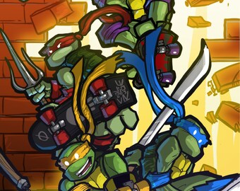 TMNT II: The Arcade Game homage poster