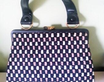 Vintage purse, vintage bag, vintage handbag, 1960's purse, 1960's handbag, 1960's bag. A12