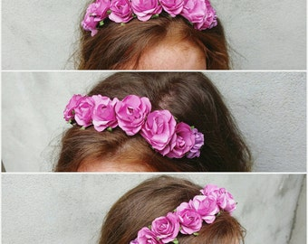 Flower headpiece by Mademoiselle Mavelton