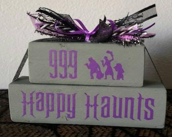 Haunted Mansion 999 Happy Haunts wood decoration